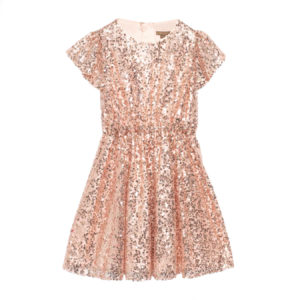 GLISTEN DRESS ROSE GOLD