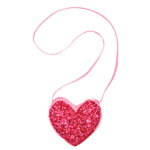 SEQUIN HEART BAG