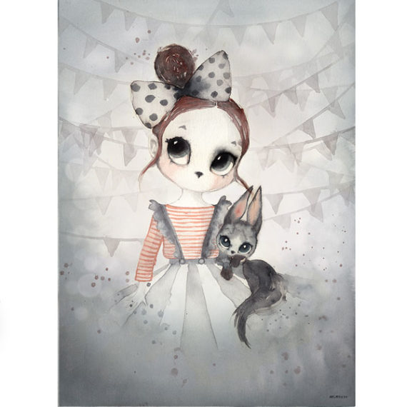 """Mrs. Mighetto  Miss Emma   Poster 50x70cm Limited """"CHRISTMAS"""" Edition"""